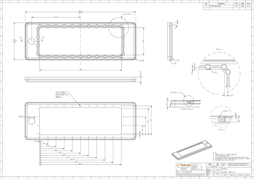 Design of IED casing for Cobham