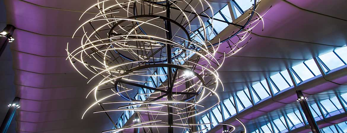 Award-winning lighting sculpture Emergence